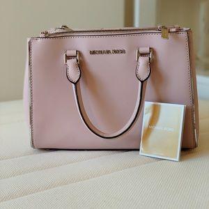 Michael Kors Saffiano Sutton small bag in BLOSSOM!